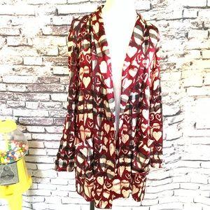 Burberry Silk Hearts Robe